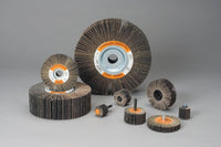 Standard Abrasives™ A/O Flap Wheel 624108, 2-1/2 in x 1/2 in x 1/4-20 in 120, 10 per inner 100 per case