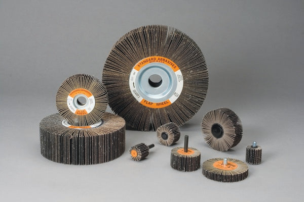 Standard Abrasives™ A/O Flap Wheel 613445, 2 in x 1 in x 1/4 in 60, 10 per inner 100 per case