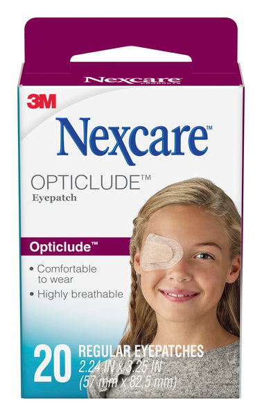 Nexcare™ Opticlude™ Orthoptic Eyepatch 1539, Regular, 3.18 in x 2.18 in (81 mm x 55.5 mm) 20 patches/box