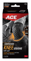 ACE™ Brand Compression Knee Sleeve w Pad 901519, Large / X Large