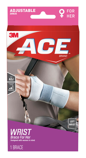 ACE™ For Her Wrist Support 209635, Left Hand, Adjustable