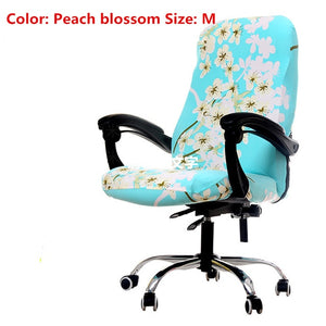 S/M/L Sizes Office Stretch Spandex Chair Covers Anti-dirty Computer Seat Chair Cover Removable Slipcovers For Office Seat Chairs