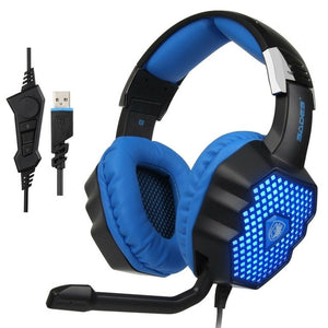 SADES A70 Gaming Headphones 7.1 Wired Gamer Over-ear Headset With Mic Breathing Lamp Computer Game For PC Laptop 829#2