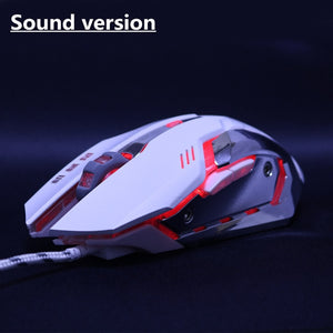 Silent/sounds Game Gaming Mouse 5000DPI Wired Optical LED Computer Mice USB Cable Mouse for laptop PC Professional gamer office