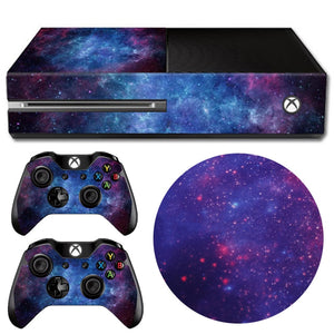 1SET Console Controllers Protective Skin Nebula Pattern Decal Sticker Adhesive Cover For Xbox One Gift For Friends