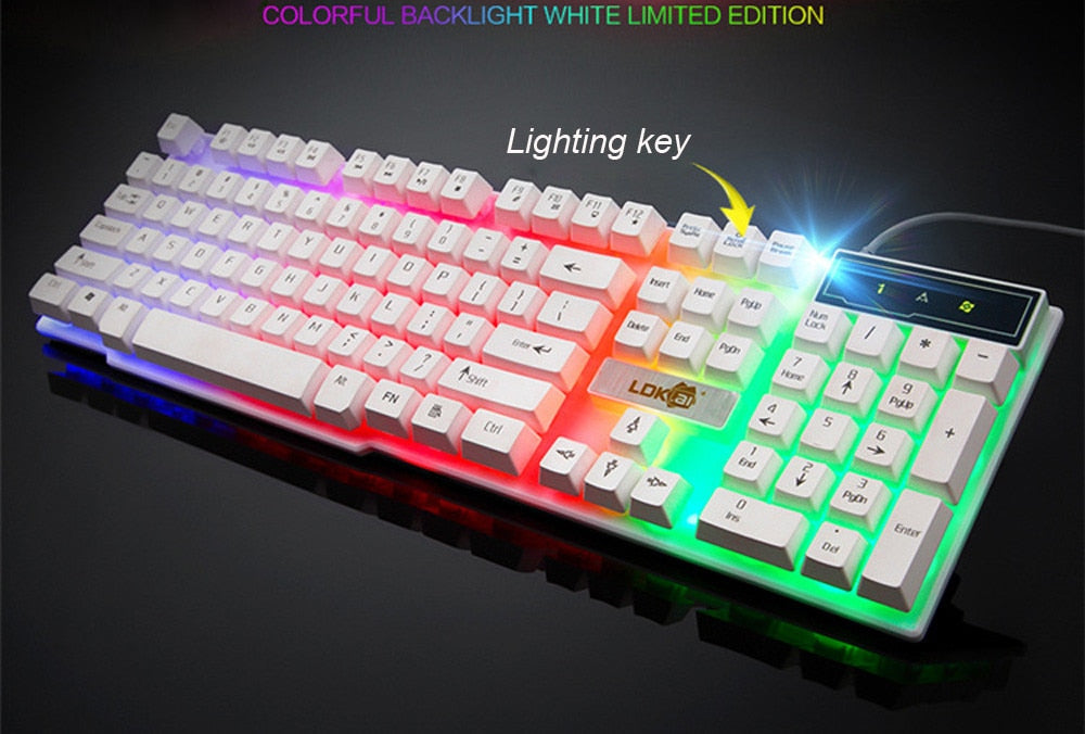 104 Keys RGB Backlit Keyboard Computer Gamer Keyboard