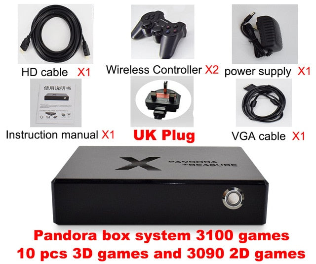 Pandora box 3D mini arcade console 3100 in 1 game video game moonlight treasure box 2D retro game PS1 3D game box 1500 in 1 game