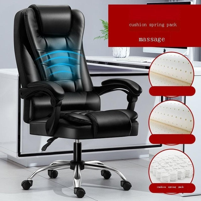 Bilgisayar Sandalyesi Gamer Sedie Sandalyeler Fotel Biurowy Fauteuil Leather Poltrona Silla Gaming Cadeira Massage Office Chair