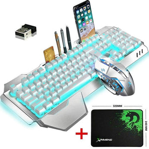 Wireless Rechargeable Keyboard Mouse Set 3800mAh Large Capacity  Rainbow Backlit Gamer Keyboard Mice  for Laptop Pc Mac