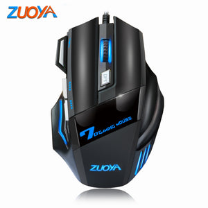 ZUOYA Wired Gaming Mouse 7 Button 5500 DPI LED Optical USB Mouse Mice Game Mouse Silent/sound Mause For PC Computer Pro Gamer
