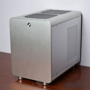 PC Gamer Cooling Case Computer Small Mini Air Chassis For ITX Motherboards Vertical ATX Gabinete All-aluminum Dust-Proof Frame