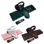 4Pcs/Set K59 Wired USB Keyboard Illuminated Gaming Mouse Pad Backlight Headset Pc Gamer