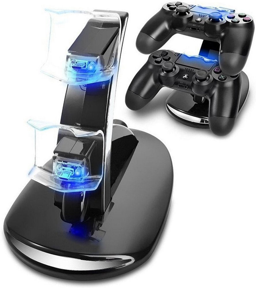 PS4 Accessories Dual Micro USB Charger Dock Joystick PS4 Charging Station for PlayStation 4 Dualshock4 Controller Charger Stand