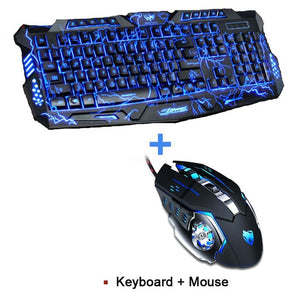 New Tri-color Backlight Pro Gamer Keyboard Gaming Mouse