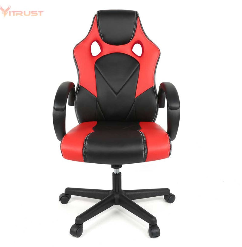 PC Gaming Chair Ergonomic Office Chair Desk Chair with Lumbar Support Arms Headrest High Back PU Leather Racing Chair