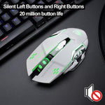 X8 Super Quiet Wireless Gaming Mouse 2400DPI Rechargeable