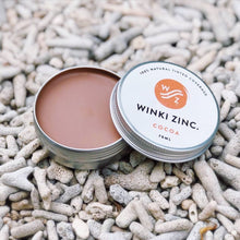 Load image into Gallery viewer, WINKI ZINC Tinted Base SPF 30 - Large Tin 70g
