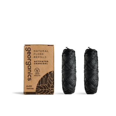 GEORGANICS Natural Floss Refills - Activated Charcoal (2 pack)