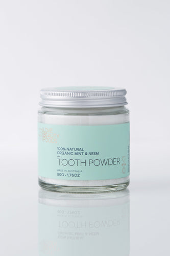 LOVE BEAUTY FOODS ORGANIC MINT & NEEM NATURAL TOOTHPOWDER