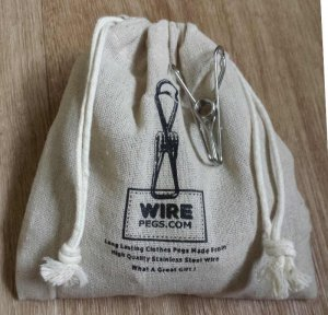 THE 'NORMAL' PEG : 201 GRADE STAINLESS STEEL WIRE CLOTHES PEGS