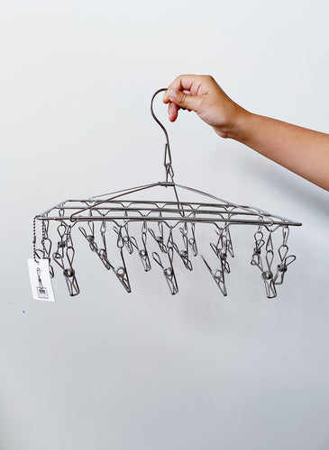 Stainless Steel socks hanger with 18 pegs -Grade 201S