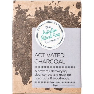 THE AUSTRALIAN NATURAL SOAP CO Face Soap Bar - Activated Charcoal 100g