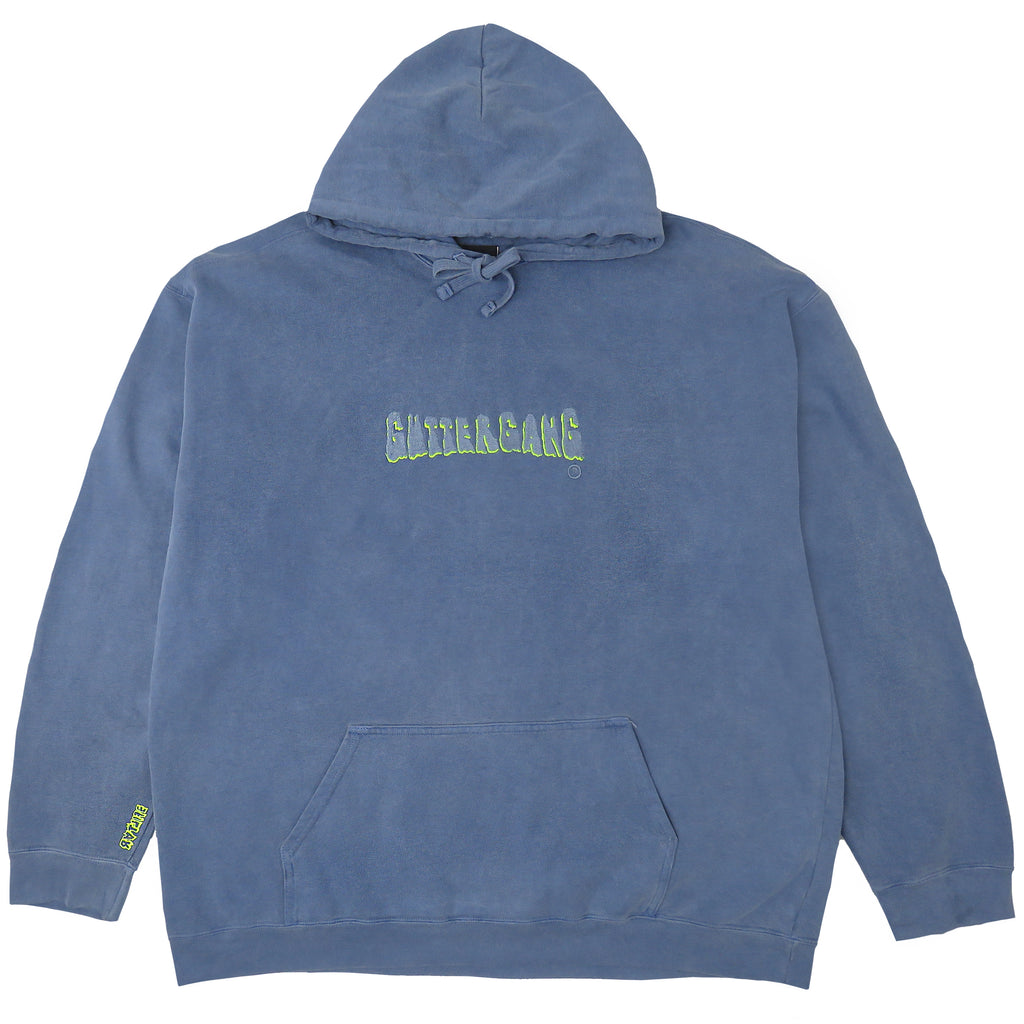 GUTTERGANG HOODED SWEATSHIRT, BLUE JEAN