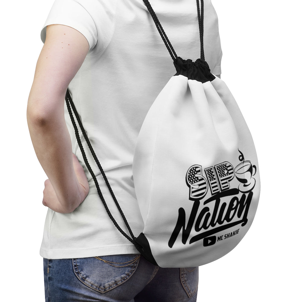 Sip Nation Drawstring Bag