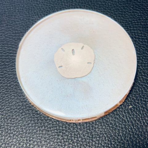 Pearl Coaster with Sand Dollar
