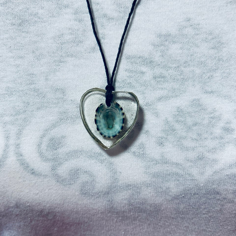 Heart-Shaped Necklace with Seashell