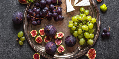Figs and Grapes with Brie Cheese