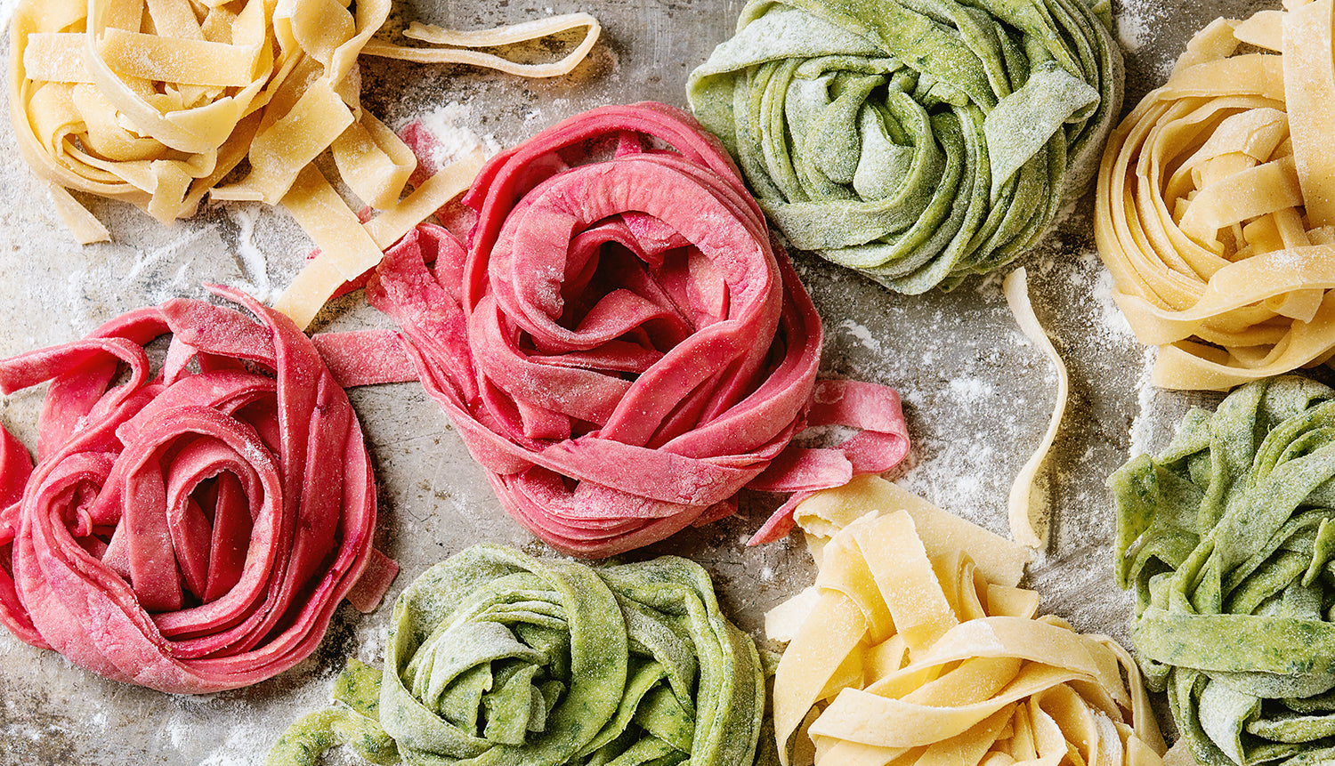 Colored Pasta from Scratch