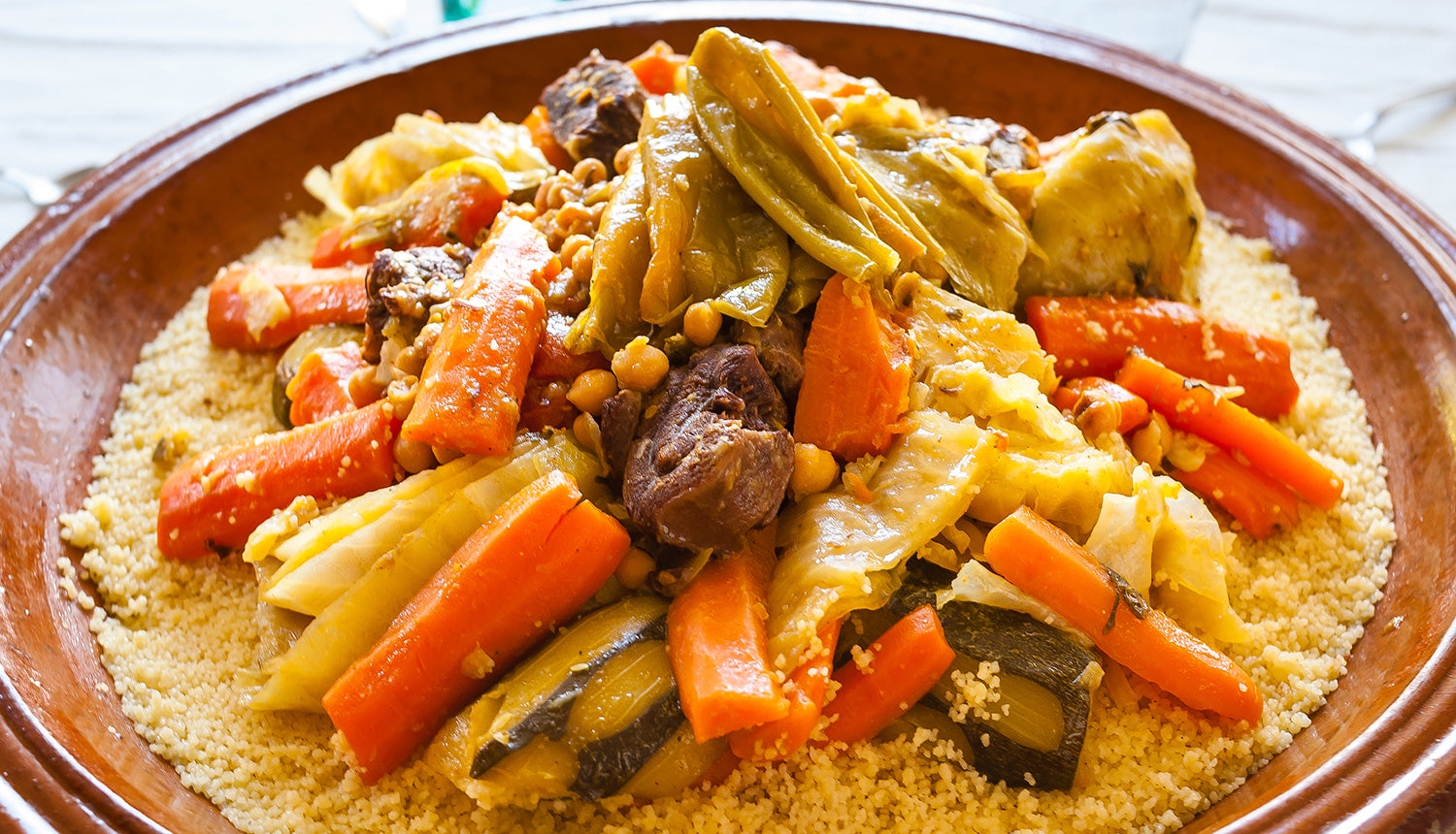 National Dish of Morocco Couscous