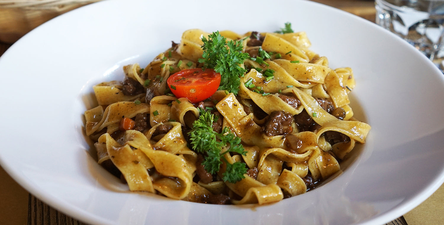 Pappardelle Pasta with Ragu Sauce