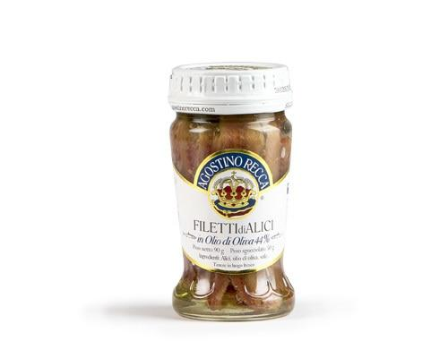 Agostino Recca Fillet of Anchovies Jar (olive oil) - 1 Jar (90g)