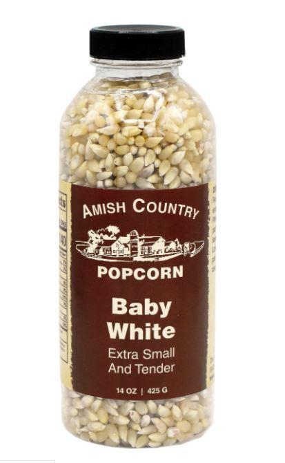 Amish Country Baby White Popcorn Bottle, 14 oz Sweets & Snacks Amish Country Popcorn