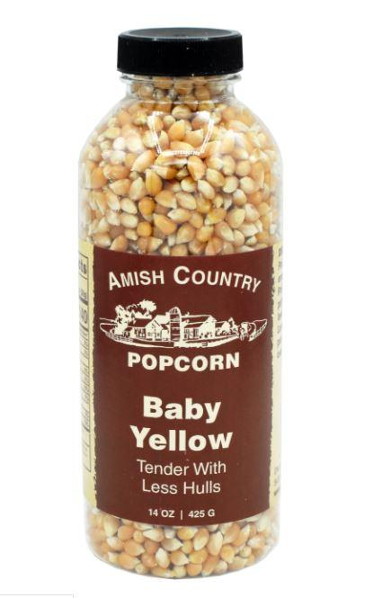 Amish Country Baby Yellow Popcorn Bottle, 14 oz Sweets & Snacks Amish Country Popcorn