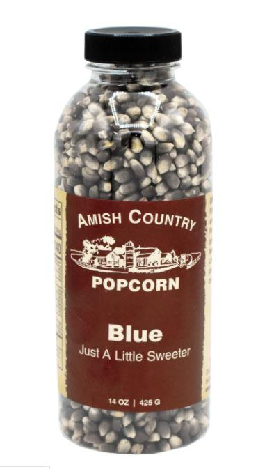 Amish Country Blue Popcorn Bottle, 14 oz Sweets & Snacks Amish Country Popcorn