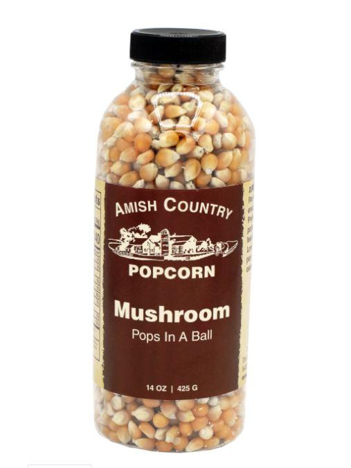 Amish Country Mushroom Popcorn Bottle, 14 oz Sweets & Snacks Amish Country Popcorn