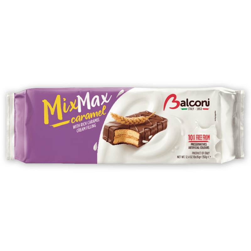 Balconi Mix Max Caramel Filling Snack Cakes, 350 grams Sweets & Snacks Balconi