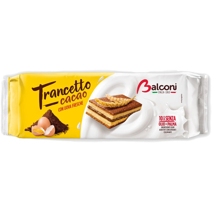 Balconi Trancetto Snack Cakes with Cocoa Cream Filling, 280 grams