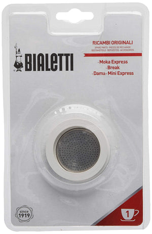 Bialetti Gaskets and Filter Set for 1-Cup Coffee & Beverages Bialetti
