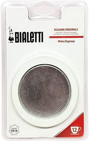 Bialetti Gaskets and Filter Set for 12-Cup Coffee & Beverages Bialetti