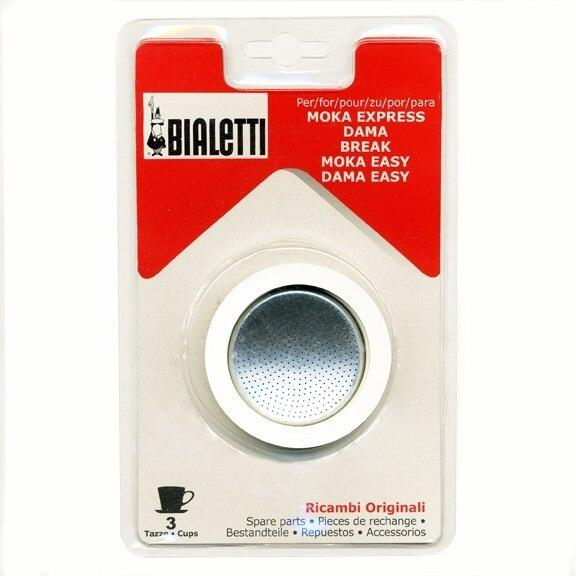 Bialetti Gaskets and Filter Set for 3-Cup