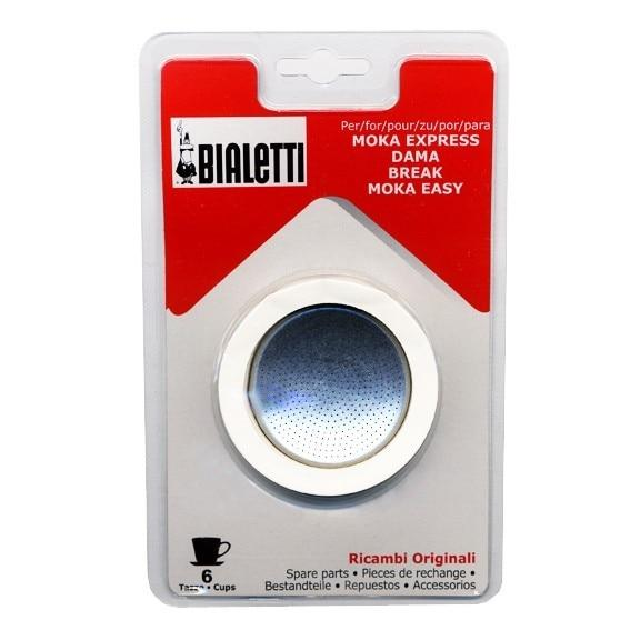 Bialetti Gaskets and Filter Set for 6-Cup