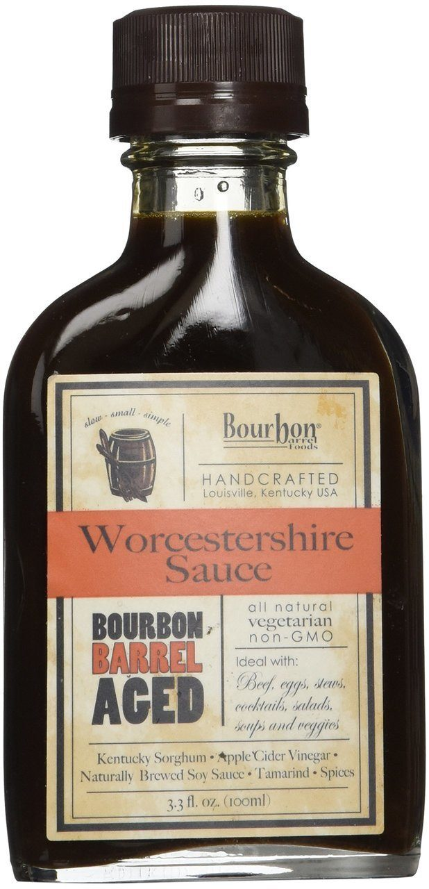 Bourbon Barrel Foods Handcrafted Worcestershire Sauce, 3.4 oz