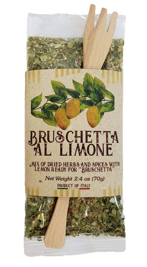 Casarecci Mix Dried Herbs and Spices with Lemon for Bruschetta, 2.4 oz