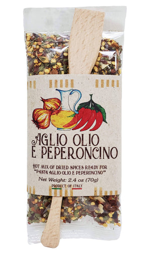 Casarecci Pasta Aglio Olio and Peperoncino Hot Mix of Dried Spices, 2.4 oz Pantry Casarecci