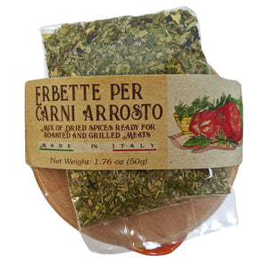 Casarecci Dried Spice Mix for Roasted and Grilled Meats with Terracotta Bowl.