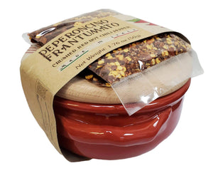 Casarecci Ricetta Peperoncino Frantumato with Terracotta Ceramic Bowl, 1.7 oz
